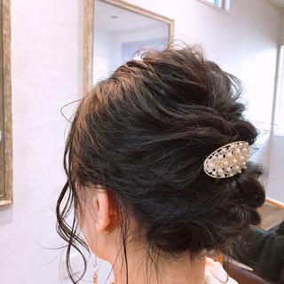 結婚式 フェミニン ヘアアレンジ ボブ ヘアスタイルや髪型の写真・画像 ヘアスタイルや髪型の写真・画像