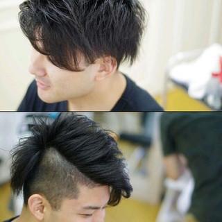ショート ストリート アッシュ 黒髪 ヘアスタイルや髪型の写真・画像