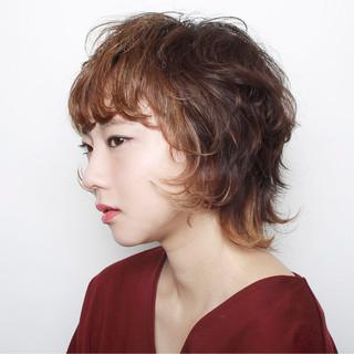 外ハネ グラデーションカラー ショート モード ヘアスタイルや髪型の写真・画像 ヘアスタイルや髪型の写真・画像