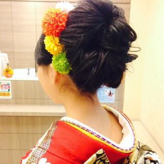 成人式 ゆるふわ ロング ショート ヘアスタイルや髪型の写真・画像