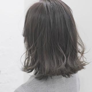 アッシュ ボブ アッシュグレージュ ナチュラル ヘアスタイルや髪型の写真・画像