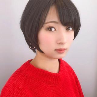 大人女子 大人かわいい ショート ナチュラル ヘアスタイルや髪型の写真・画像