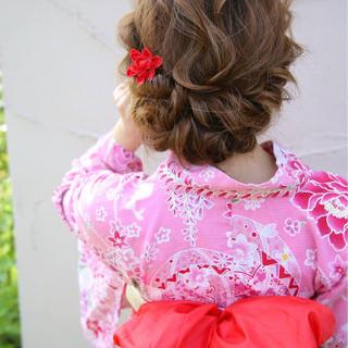 ロング フェミニン 夏 花火大会 ヘアスタイルや髪型の写真・画像 ヘアスタイルや髪型の写真・画像