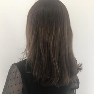 外国人風 ミディアム 外国人風カラー ハイライト ヘアスタイルや髪型の写真・画像