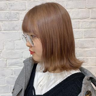 ナチュラル ミルクティーベージュ ミルクティーアッシュ ダブルカラー ヘアスタイルや髪型の写真・画像