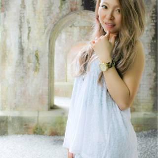 モテ髪 ロング 外国人風 ナチュラル ヘアスタイルや髪型の写真・画像