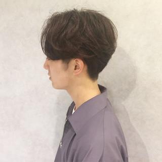 ショート メンズ パーマ ボーイッシュ ヘアスタイルや髪型の写真・画像
