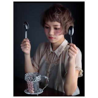 ピュア ゆるふわ モード アッシュ ヘアスタイルや髪型の写真・画像