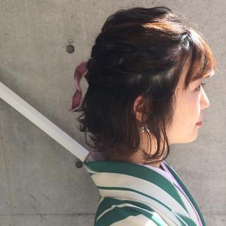 結婚式 ヘアアレンジ ガーリー 謝恩会 ヘアスタイルや髪型の写真・画像