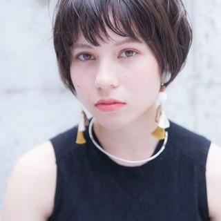 外国人風カラー 透明感カラー ショート アディクシーカラー ヘアスタイルや髪型の写真・画像