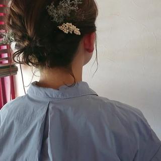 可愛い ボブ 浴衣ヘア ガーリー ヘアスタイルや髪型の写真・画像