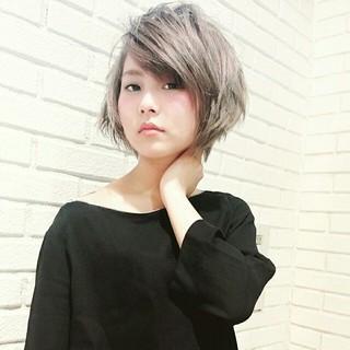 大人かわいい モード アッシュ 色気 ヘアスタイルや髪型の写真・画像