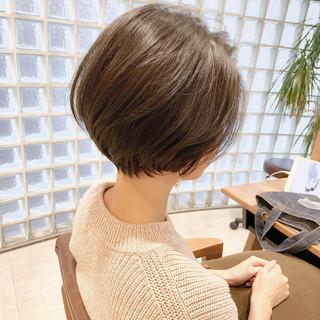 ナチュラル ショート デート ヘアアレンジ ヘアスタイルや髪型の写真・画像