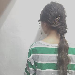 ヘアアレンジ 暗髪 外国人風 簡単ヘアアレンジ ヘアスタイルや髪型の写真・画像