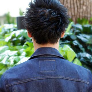 黒髪 ナチュラル パーマ メンズ ヘアスタイルや髪型の写真・画像