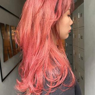 ピンクラベンダー ピンクヘア ベリーピンク ラベンダーピンク ヘアスタイルや髪型の写真・画像