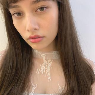 インナーカラー ミルクティーブラウン 透明感カラー ミルクティーベージュ ヘアスタイルや髪型の写真・画像