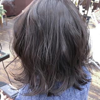 フェミニン ボブ 透明感 黒髪 ヘアスタイルや髪型の写真・画像