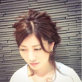 ハイライト ショート 大人かわいい 簡単ヘアアレンジ ヘアスタイルや髪型の写真・画像 ヘアスタイルや髪型の写真・画像