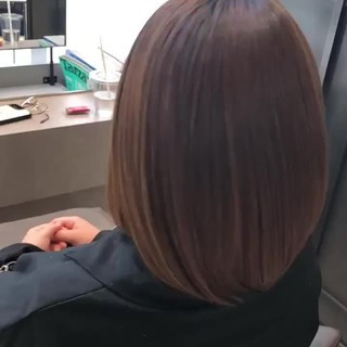 髪質改善カラー 髪質改善 サイエンスアクア 髪質改善トリートメント ヘアスタイルや髪型の写真・画像