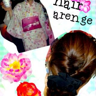 夏 まとめ髪 ねじり お団子 ヘアスタイルや髪型の写真・画像