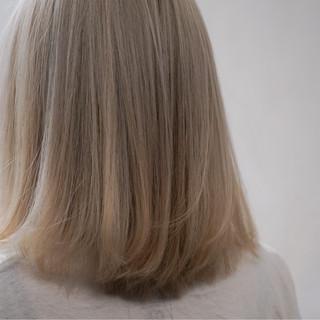 ハイトーン アッシュ ストリート ボブ ヘアスタイルや髪型の写真・画像 ヘアスタイルや髪型の写真・画像