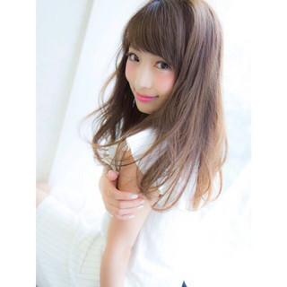 大人かわいい かわいい ストレート セミロング ヘアスタイルや髪型の写真・画像 ヘアスタイルや髪型の写真・画像