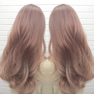 ピンク グラデーションカラー ロング ピンクアッシュ ヘアスタイルや髪型の写真・画像