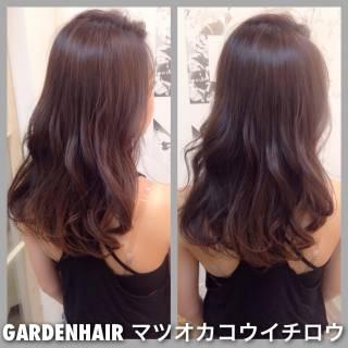 ロング ラベンダーアッシュ 外国人風カラー ラベンダー ヘアスタイルや髪型の写真・画像 ヘアスタイルや髪型の写真・画像