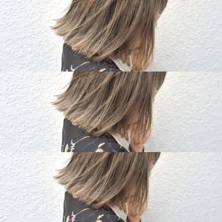 ナチュラル 外国人風 アッシュベージュ ハイライト ヘアスタイルや髪型の写真・画像