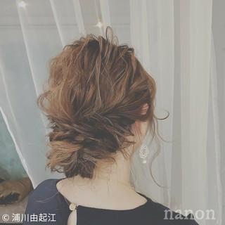 デート 大人かわいい 簡単ヘアアレンジ セミロング ヘアスタイルや髪型の写真・画像