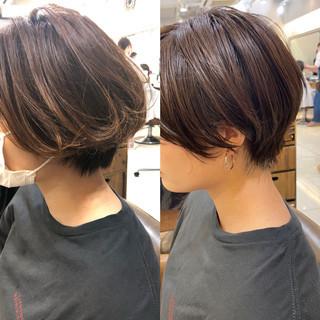 切りっぱなしボブ ショートボブ ショート ベリーショート ヘアスタイルや髪型の写真・画像