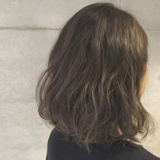 ゆるふわ ナチュラル ボブ ハイライト ヘアスタイルや髪型の写真・画像