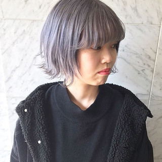 ハイトーン ハイトーンカラー ショート ヘアアレンジ ヘアスタイルや髪型の写真・画像