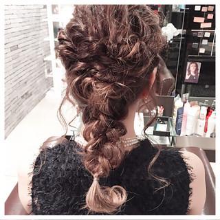 フェミニン セミロング 簡単ヘアアレンジ ハーフアップ ヘアスタイルや髪型の写真・画像