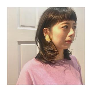 外ハネ マッシュ ミディアム 色気 ヘアスタイルや髪型の写真・画像