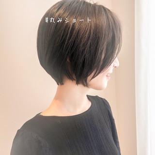 ショート ミニボブ 抜け感 ショートボブ ヘアスタイルや髪型の写真・画像