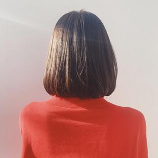 ナチュラル ブラウンベージュ ヌーディベージュ 透け感ヘア ヘアスタイルや髪型の写真・画像