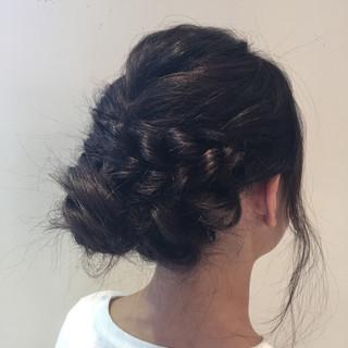 パーティ エレガント ロング ヘアアレンジ ヘアスタイルや髪型の写真・画像