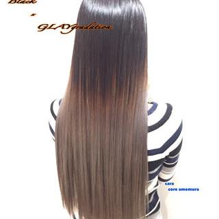 ハイトーン ロング グラデーションカラー ブリーチ ヘアスタイルや髪型の写真・画像 ヘアスタイルや髪型の写真・画像