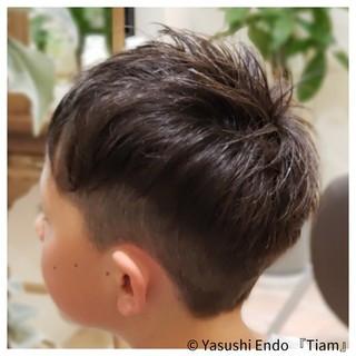 キッズカット ナチュラル メンズ ツーブロック ヘアスタイルや髪型の写真・画像