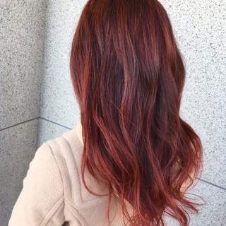外国人風 グラデーションカラー ピンク 外国人風カラー ヘアスタイルや髪型の写真・画像 ヘアスタイルや髪型の写真・画像