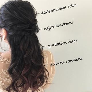 簡単ヘアアレンジ デート ナチュラル ゆるふわ ヘアスタイルや髪型の写真・画像 ヘアスタイルや髪型の写真・画像