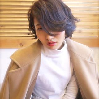 かっこいい モード ボブ うざバング ヘアスタイルや髪型の写真・画像