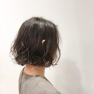 外国人風 ボブ ナチュラル ニュアンス ヘアスタイルや髪型の写真・画像