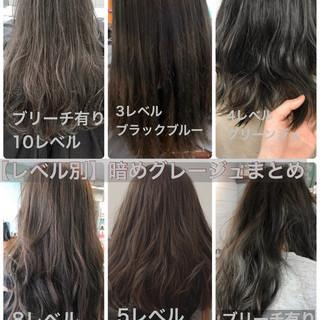 ミルクティーグレージュ ラベンダーグレージュ ナチュラル グレージュ ヘアスタイルや髪型の写真・画像