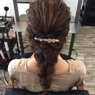 ロング ナチュラル ヘアアレンジ モテ髪 ヘアスタイルや髪型の写真・画像 ヘアスタイルや髪型の写真・画像