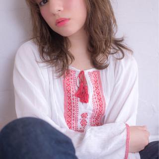 ヘアアレンジ アッシュ ゆるふわ ガーリー ヘアスタイルや髪型の写真・画像