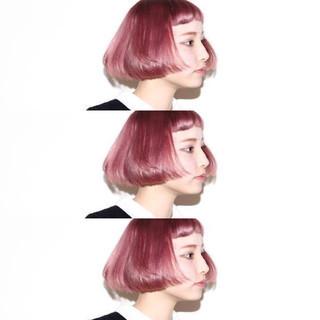 ストリート 色気 グラデーションカラー ベージュ ヘアスタイルや髪型の写真・画像