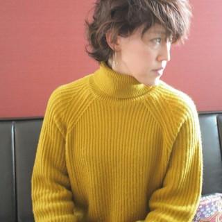 抜け感 耳かけ ボブ アンニュイほつれヘア ヘアスタイルや髪型の写真・画像